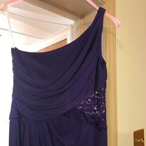 David's Bridal - Long Purple Dress